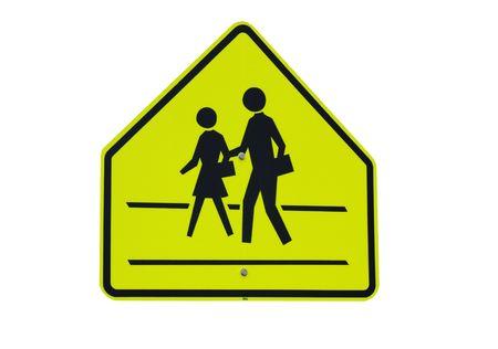 pedestrian crosswalk warning sign Stock Photo - 7254980