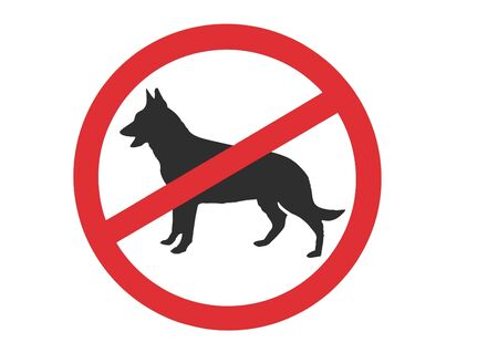 no dogs allowed sign isolated over white background photo