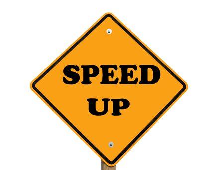 speed up warning sign isolated  版權商用圖片