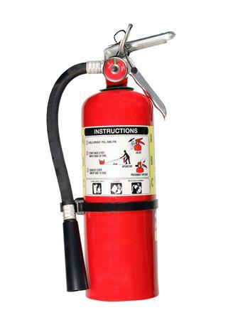 extiguisher de rojo fuego