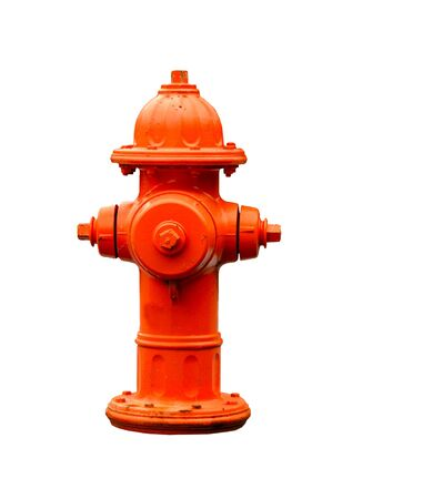 fire hydrant: orange fire hydrant isolated