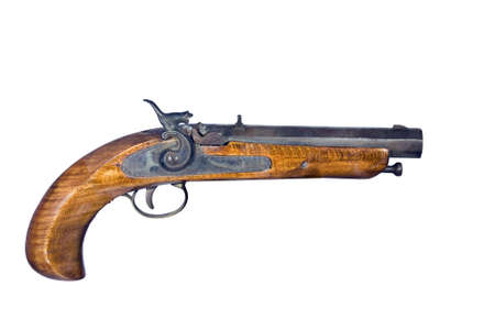 flintlock: flintlock pistol isolated over a white background with clipping path at this size