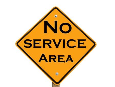 geen service gebied waarschuwingsteken