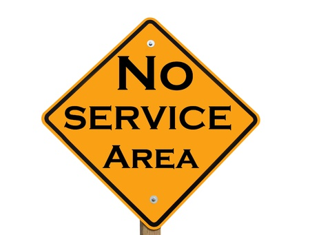 restrict: no service area warning sign