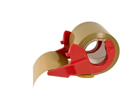 adhere: roll of package tape and dispenser