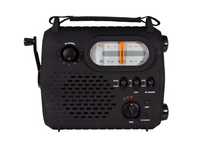 emergency radio with cranking power Stock Photo