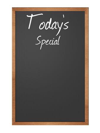 tadays special written in chalk on a blackboard Stock fotó