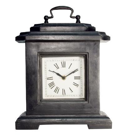black wooden vintage mantle clock Imagens - 9145946