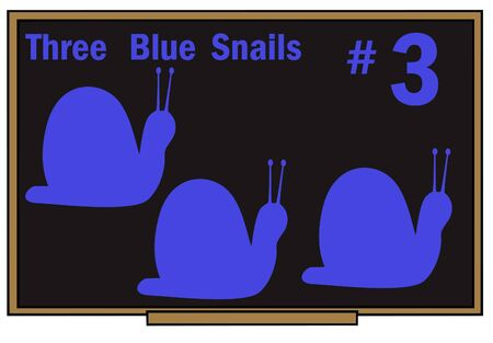 blackboard learning tool for number three and the color blue