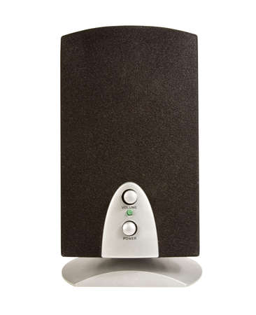computer speaker isolated over a white background  Banco de Imagens