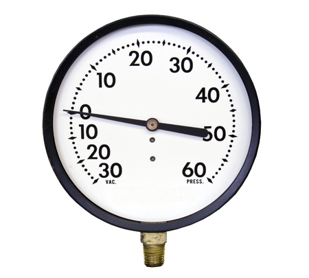pressure gauge: vacuuum pressure gauge isolated over a white background with a clipping path at original size