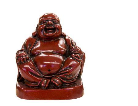 Boeddhabeeld geà ¯ soleerd op een witte achtergrond