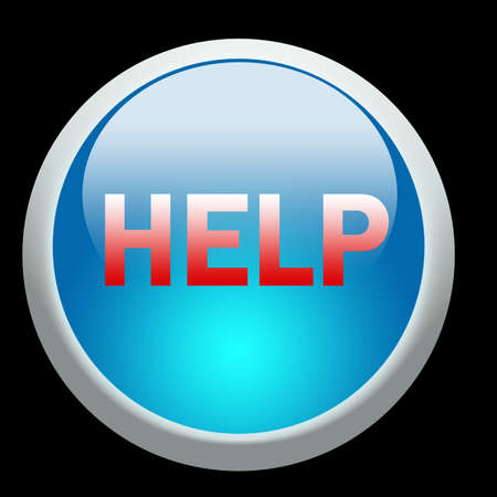 help button illustration over a black background Stock fotó