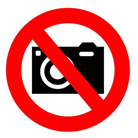 no camera sign isolated on a white background Stock Photo - 12177828