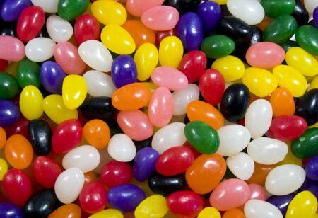 multi gekleurde Jelly Bean snoepjes voor een Pasen achtergrond