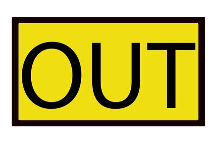 out sign isolated over a white background photo