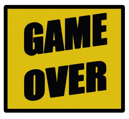 game over sign isolated over a white background Stock fotó - 17297508