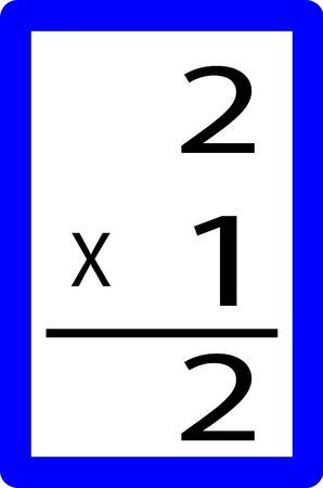 two times one multiplication card