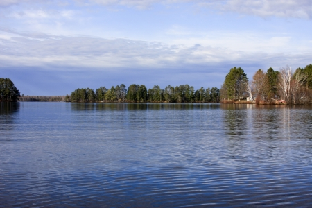 freshwater: ripples on a northern wisconsin freshwater lake