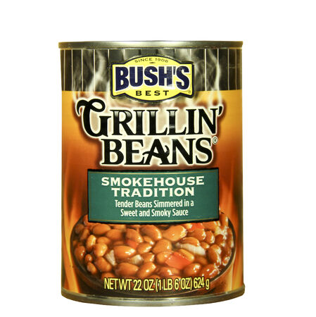 SPENCER , WISCONSIN - JANUARY 23, 2014 : can of Bushs Grillin Beans. Bush Brothers and Company is a family owned company best noted for its Bushs Best Canned Baked Beans