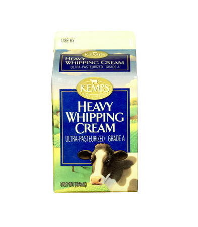 spencer: SPENCER , WISCONSIN- JANRUARY 29, 2014 : carton of Kemps Heavy Whipping Cream. Kemps markets dairy products since 1914
