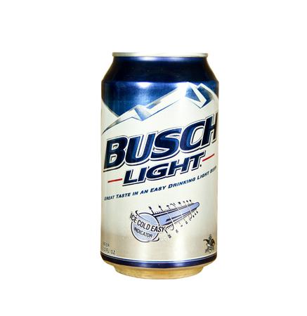 SPENCER, Wisconsin-1 maart; kan van Busch Light Beer. Anheuser Busch is de grootste Beer Company in de Verenigde Staten Redactioneel