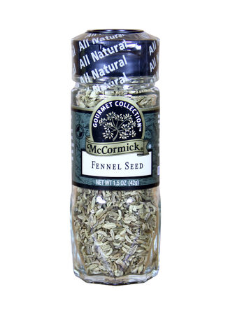 fennel seed: SPENCER , WISCONSIN-APRIL 1, 2014 : jar of McCormick Fennel Seed. McCormick is an American Company that manufactures spices, herbs, and spices