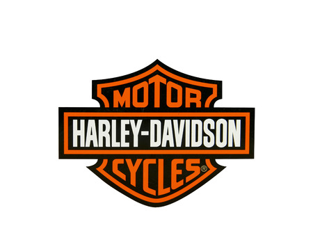 SPENCER , WISCONSIN-APRIL 17, 2014 : Harley Davidson Logo over a whight background. Harley Davidson is the leading American Made Motorcycle Company, it was founded in 1903