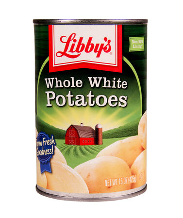 canned goods: SPENCER , WISCONSIN June 19 , 2014:  can of Libbys Whole White Potatoes. Libbys is a leading manufacturer of canned goods and groceries. Editorial