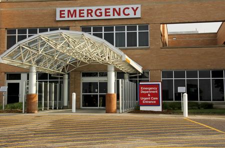SEH entree op een openbaar ziekenhuis Stockfoto