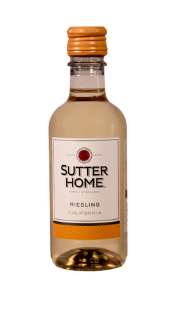 SPENCER , WISCONSIN Aug. 11 , 2014:  bottle of Sutter Home Riesling Wine. Sutter Home Winery was established in 1890 and is the largest family owned winery in the United States