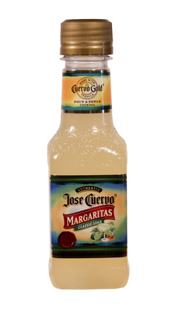 SPENCER , WISCONSIN Sept.5 , 2014:  Bottle of Jose Cuervo Margarita. Jose Cuervo is a brand of Tequila that was founded in 1795