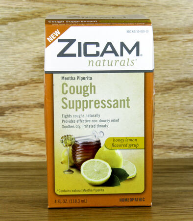 marketed: SPENCER , WISCONSIN Oct. 4, 2014: Box of Zicam Cough Suppresant . Zicam is a branded series of products marketed for cold and allergy relief. Editorial