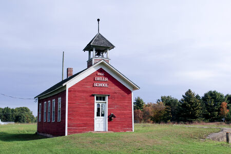 one room school house: DELLS POND WISCONSIN, September, 24, 2014, Old Historic one room school house. Dells Pond is a historic settlement in Wisconsin. Editorial