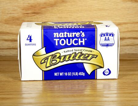 natures: SPENCER , WISCONSIN,January, 23, 2015,  Box of Natures Touch Butter. Natures Touch is distributed by Kwik Trip inc.