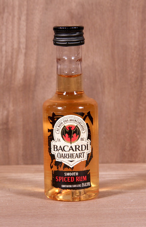 founded: SPENCER , WISCONSIN,  February, 03, 2015   Bottle of Barcardi Oakheart Rum. Barcardi was founded in Cuba in 1862