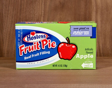 founded: SPENCER , WISCONSIN,  February, 01, 2015  Box of Hostess Apple Fruit Pie. Hostess was founded in 1919
