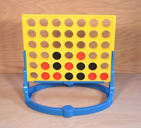 milton: SPENCER , WISCONSIN,  February, 27, 2015   Connect Four Game by Milton Bradley. Connect Four was first introduced by Milton Bradley in 1974