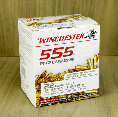 winchester: SPENCER , WISCONSIN, March, 19, 2015  Box of  Winchester 22 Long Rifle Shells, Winchester is an American Company founded in 1866 Editorial