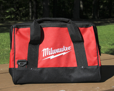 tool bag: SPENCER , WISCONSIN, September, 20, 2015   Milwaukee Tool Bag Milwaukee Tool Corporation was established in 1924 Editorial