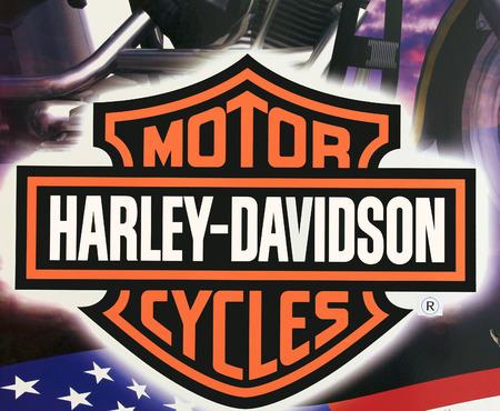 harley davidson: SPENCER , WISCONSIN, September, 21, 2015   Harley Davidson Logo   Harley Davidson is an American motorcycle manufacturer  founded in 1903