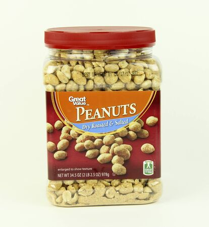 SPENCER , WISCONSIN, October, 31, 2015   Jar of Great Value Peanuts  Great Value was launched in 1993 and is a Walmart National Brand Equivalent brand