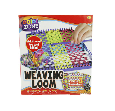 SPENCER , WISCONSIN, December,25, 2015    Color Zone Weaving Loom Kit  Color Zone is a major producer of crafts and toys. Editorial