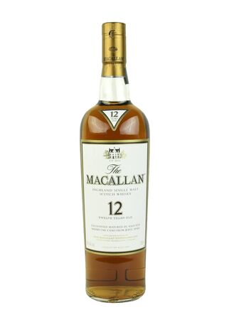 12 year old: SPENCER , WISCONSIN, December,27, 2015    Bottle of  Macallan 12 year old Scotch Whisky   The Macallan Distillery is a single malt distillery in Craigellachie Scotland