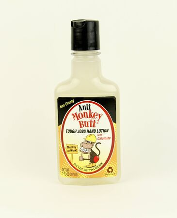 sooth: SPENCER , WISCONSIN, January,3, 2016  Bottle of Bottle of Anti Monkey Butt Hand Lotion  Anti Monkey Butt Corporation is an American company founded in 2003