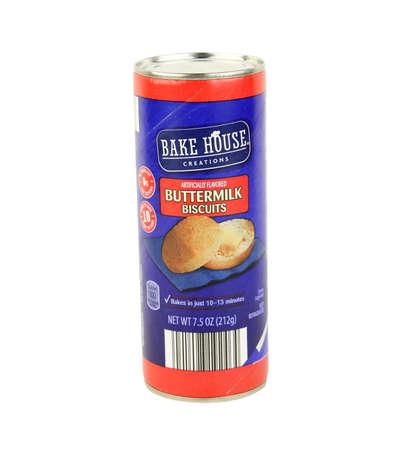 specific: SPENCER , WISCONSIN, January,16, 2016   Bake House Creations Buttermilk Biscuits   Bake House Creations is Aldi Foods specific grocery brand