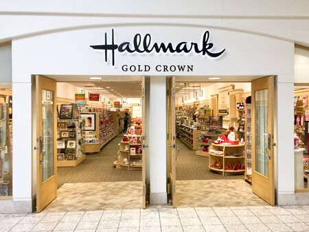 hallmark: SPENCER , WISCONSIN, February,12,, 2016   Hallmark store in a retail shopping mall Editorial