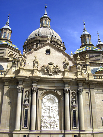 zaragoza: Basilica of Our Lady of the Pillar in Zaragoza Spain opened in 1754 Stock Photo