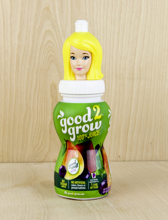 family owned: SPENCER , WISCONSIN, March,24, 2016    Bottle of  Good 2 Grow juice   Good 2 Grow is a family owned business based in Atlanta Georgia U.S.A. Editorial