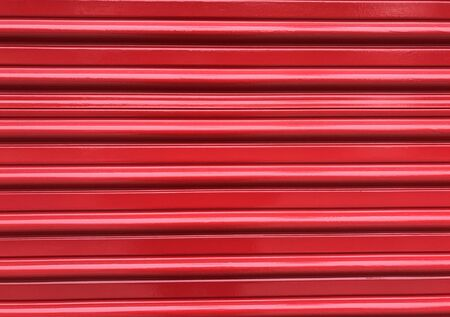 Bright red pleated door makes the background